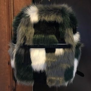 Faux fur small backpack Siberia leighton backpack